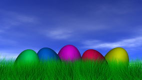 Easter Eggs Background Stock Image