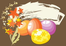 Easter eggs on the background broun Royalty Free Stock Images