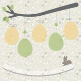 Easter eggs background. Easter eggs card, Easter eggs poster Stock Illustration