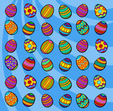 Easter eggs background cartoon illustration Stock Photos
