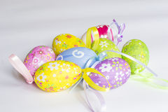Easter eggs background stock photography
