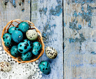 Easter eggs background Royalty Free Stock Photography