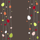 Easter eggs background. Greeting card Royalty Free Stock Image