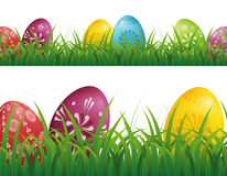 Easter Eggs Background Stock Photo