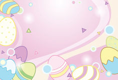 Easter eggs background illustration Stock Photography