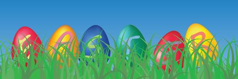 Easter eggs background. With letters Royalty Free Stock Photos