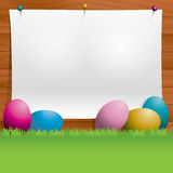 Easter Eggs Background Message Illustration Royalty Free Stock Image