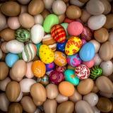 Easter eggs background royalty free illustration