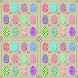Easter eggs. Background of Easter eggs with ornaments Stock Photo