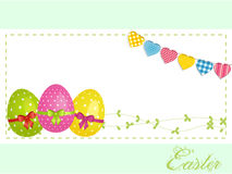 Easter eggs background panel and bunting Stock Photography