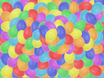 Easter eggs background. Rainbow color eggs Stock Photography