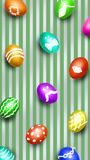 Easter eggs. Background for screen Stock Photos