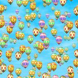 Easter eggs balloons generated hires texture Stock Photography