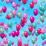 Easter eggs balloons generated hires texture Stock Photo