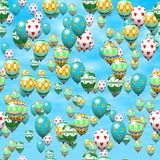 Easter eggs balloons generated hires texture Royalty Free Stock Photography