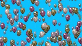 Easter eggs balloons generated seamless loop video stock footage