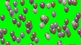 Easter eggs balloons generated seamless loop video green stock video footage