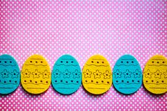 Easter eggs banner Stock Photography