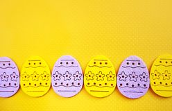 Easter eggs banner Royalty Free Stock Photos