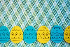 Easter eggs banner Stock Photos