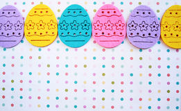 Easter eggs banner Royalty Free Stock Image