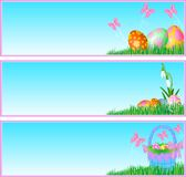 Easter eggs banners Royalty Free Stock Image