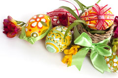 Free Easter Eggs Basket Royalty Free Stock Images - 13357229