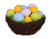 Easter eggs in a basket Stock Image