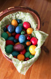 Easter eggs basket Stock Images