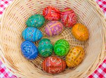 Easter eggs. In a basket Royalty Free Stock Image