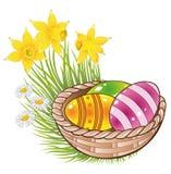 Easter, eggs, basket Stock Photo