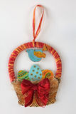 Easter eggs basket decoration Royalty Free Stock Photography