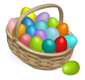 Easter eggs basket illustration Stock Image