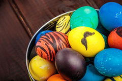 Easter eggs basket royalty free stock images