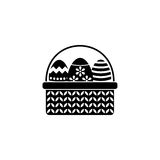 Easter eggs in basket solid icon, religion holiday. Elements, Happy easter sign, a filled pattern on a white background, eps 10 vector illustration