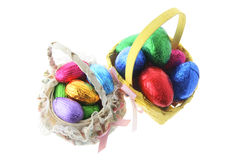 Easter Eggs in Baskets Royalty Free Stock Photo