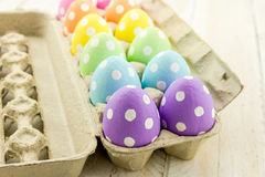 Easter Eggs and Baskets Stock Images