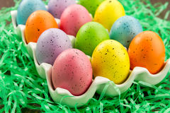 Easter Eggs and Baskets Royalty Free Stock Photo
