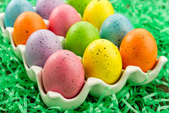 Easter Eggs and Baskets Stock Photos