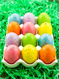 Easter Eggs and Baskets Stock Image