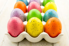 Easter Eggs and Baskets Royalty Free Stock Photography