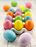 Easter Eggs and Baskets Royalty Free Stock Photos