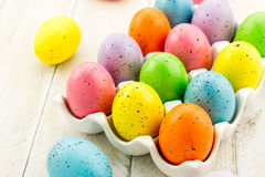 Easter Eggs and Baskets Royalty Free Stock Images