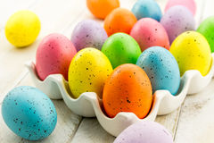 Easter Eggs and Baskets Stock Photography