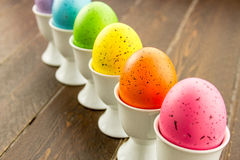 Easter Eggs and Baskets Stock Photo