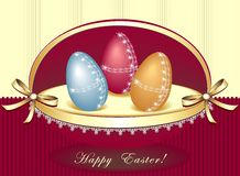 Easter eggs in beautiful box Royalty Free Stock Image