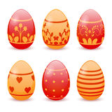 Easter eggs. Beautiful Easter eggs. Set of elements Stock Image
