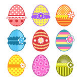 Easter eggs. Beautiful Easter eggs. Set of elements Royalty Free Stock Photography