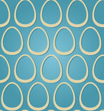 Easter eggs beige blue seamless Stock Photography