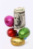 Easter Eggs Big And Small Close Up Royalty Free Stock Photos